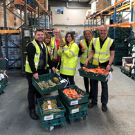 Colleagues from Sodexo's Diageo contract volunteering pre-Covid