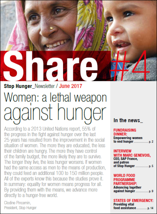 Women: A lethal weapon against hunger